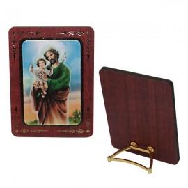 Cadre en bois avec St Joseph