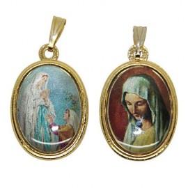 Médaille Vierge de Banneux et apparition de Lourdes