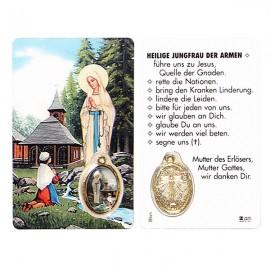 Carte médaille de Banneux N.D prière
