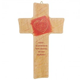 Houten kruis voor bruiloft