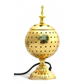 Electric censer in gilt metal