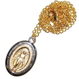 Médaille de la Vierge Miraculeuse avec chaîne