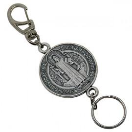 Benedict medal keyring
