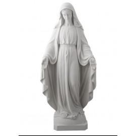 Statue Vierge Miraculeuse en Albâtre - 17.5 cm