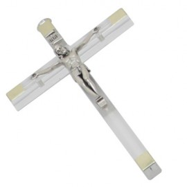 Transparent plexiglass cross