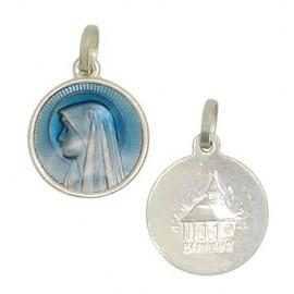 Médaille Vierge des Pauvres de Banneux et petite chapelle
