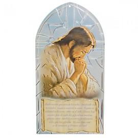 Cadre Christ priant avec prière - Notre père