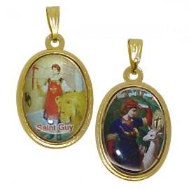 Médaille  Saint Guy et Saint Hubert