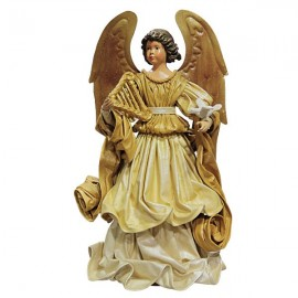 Engel goldenes Kleid mit Taube - 42 cm