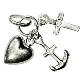 Pendant, Faith, Hope and Charity in silver 925