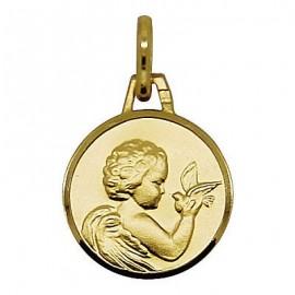 Medaglia d'angelo placcato oro