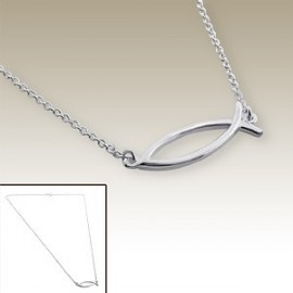 Fish necklace religious sign - Silver 925