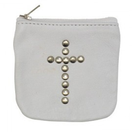 White leather case with cross