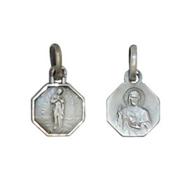 Medal of the Virgin of the Poor of Banneux N.d - antique 925 silver