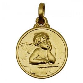 Vergoldete Engel-Medaille