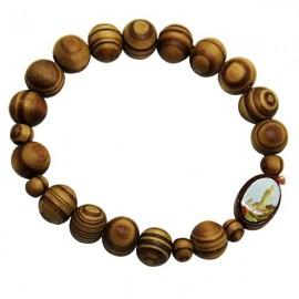 Elastic natural wood tenainier bracelet