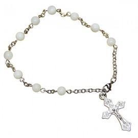 Bracelet dizaine véritable perles en nacres