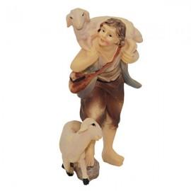 Herder met schapen - 9 cm