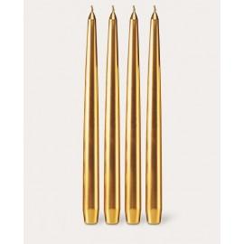 Gold Tischkerzen-Set 4-teilig
