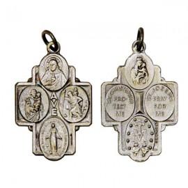 Pendentif croix aux Saints protecteurs