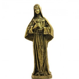 Statue Sainte Rita Statue poudre de Marbre - couleur Bronze