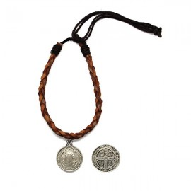 Bracelet cuir saint benoît