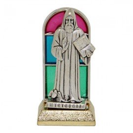 Saint Benedict stained glass statue