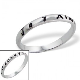 """Ring """"Je t'aime,I love You."""" silber"""