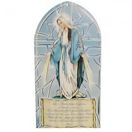 Cadre avec Vierge Miraculeuse avec prière