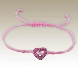 Pink heart bracelet - Silver 925