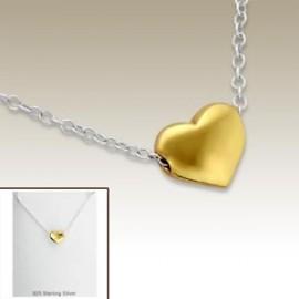Collier coeur doré - Argent 925