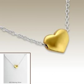 Gold heart necklace - Silver 925