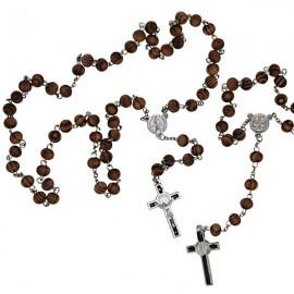 Rosary Saint Benoit natural wood