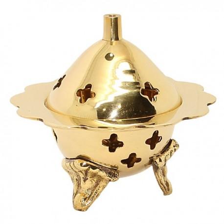 Encensoir en cuivre sculpté fleur
