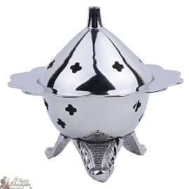 Silver censer carved like a flower
