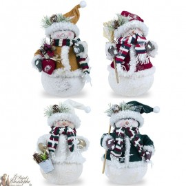 Snowmen Set of 4 pieces