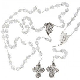 Rosary of the Miraculous Virgin and cross to the patron saints