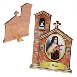 Cadre de Sainte Thérèse en forme d'Eglise