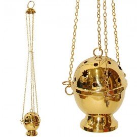 Copper censer hanging stars