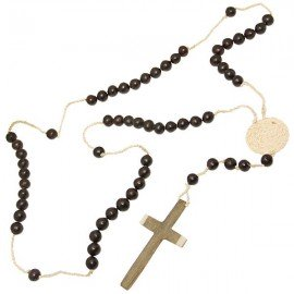 Pilgrim's rosary in seeds and wood - Argentinean handicraft