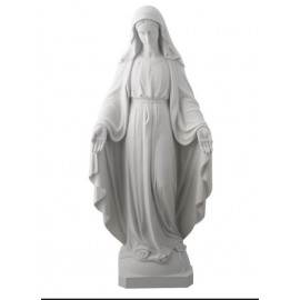 Statua della Vergine Miracolosa in Alabastro - 22 cm