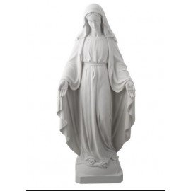 Miraculous Virgin Statue in Alabaster - 22 cm