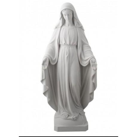 Statue Vierge Marie Miraculeuse en Albâtre - 22 cm