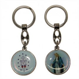 Miraculous Virgin double-sided key ring