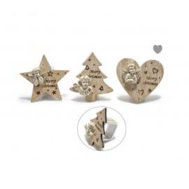 Rond de serviette Ange décoration Noël - 6 pièces