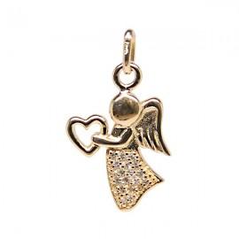 Pendentif ange brillant plaqué or