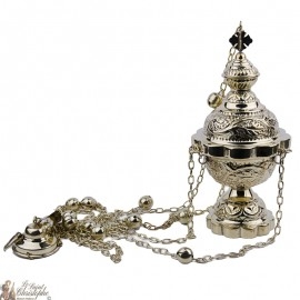 Carved censer with bells 25cm