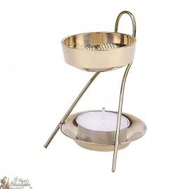 Bruciatore d'incenso a candela d'oro - 7,5 cm