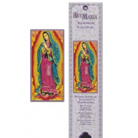 Incense pouch - Our Lady of Guadeloupe - 15 pieces