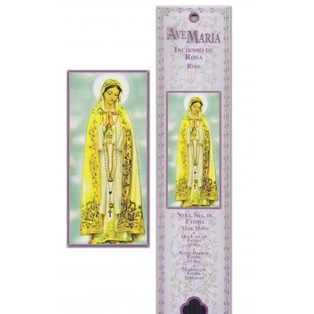 """Pochette encens """"Notre Dame de Fatima"""" - 15 pces - 60gr"""